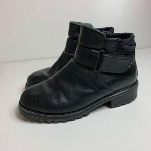 L.L Bean Leather Velcro Boots 11W